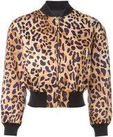DSQUARED2 leopard print bomber jacket - women - Polyester - 42