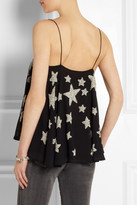 Kate Moss for Topshop Star-embellished crepe camisole
