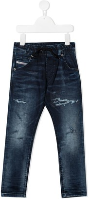 Diesel Ripped Faded Jeans
