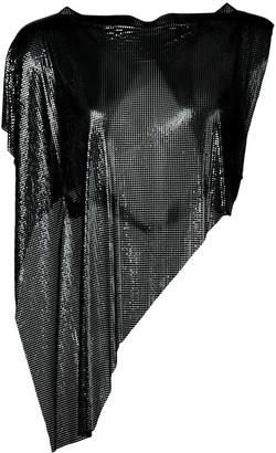 Fannie Schiavoni asymmetric chainmail top