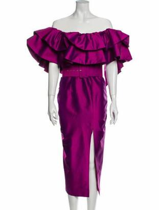Rasario 2019 Midi Length Dress Purple