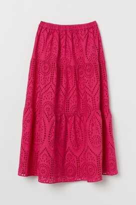 H&M Eyelet Embroidery Skirt - Pink
