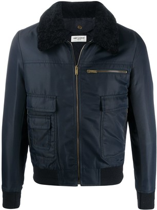 Saint Laurent Aviator zipped bomber jacket