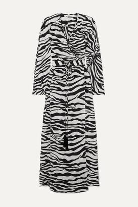 ATTICO Zebra-print Crepe Wrap Maxi Dress - Zebra print