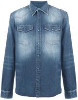 Maison Margiela bleached effect denim shirt - men - Cotton - 39