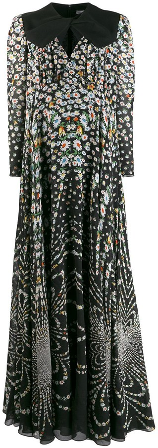 Givenchy Floral Evening Dress