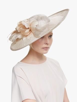 John Lewis & Partners Tori Flower Disc Occasion Hat, Natural