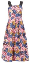 Mary Katrantzou Crystal Rose-print Crepe Dress - Womens - Pink Multi