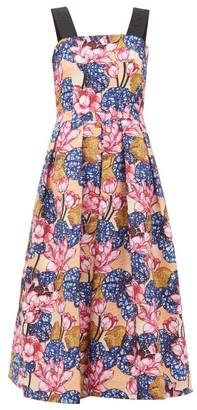 Mary Katrantzou Crystal Rose-print Crepe Dress - Womens - Pink Multi