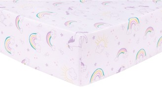 Trend Lab Unicorn Rainbow Deluxe Flannel Fitted Crib Sheet