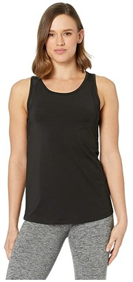 Jockey Active Mission Performance Singlet (Deep Black) Women's Clothing