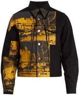 Calvin Klein Car Crash-print denim jacket