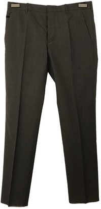 Prada Grey Wool Trousers