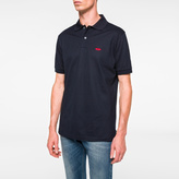 Paul Smith Men's Navy Embroidered 'Lips' Motif Polo Shirt