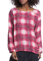 Plenty by Tracy Reese Ruby Plaid Easy Top