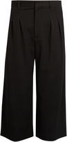 J.W.Anderson Pleated wide-leg cropped trousers