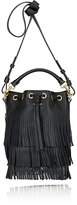 Saint Laurent Women's Fringed Small Bucket Bag-BLACK