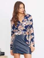 Lovers + Friends Lovers & Friends Valley Wrap Top in Carmel Floral