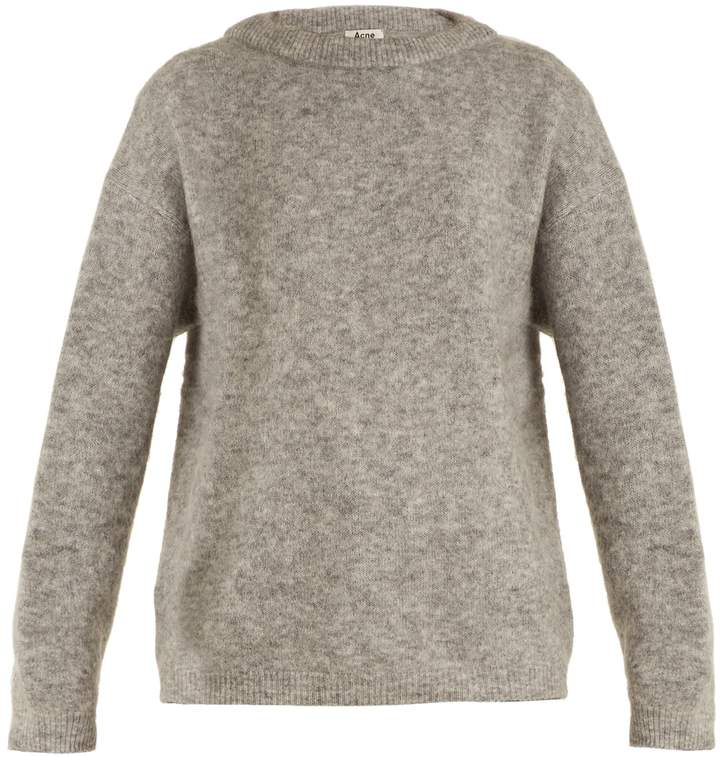 Acne Studios Dramatic round-neck brushed-knit sweater