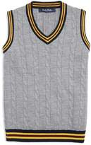 Brooks Brothers Boys' Collegiate Cable-Knit Sweater Vest