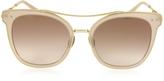 Bottega Veneta BV0064S Round Metal Frame Women's Sunglasses