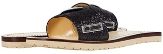 Love Moschino Heart Sandal (Black) Women's Shoes