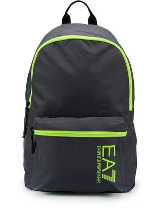 EA7 Emporio Armani Contrast-Trim Logo Backpack