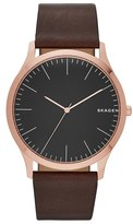 Skagen Jorn Leather Strap Watch, 41Mm