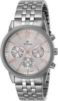 Titan Men's 'Neo' Quartz Metal and Brass Casual Watch, Color:-Toned (Model: 1734SM01)