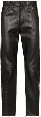 Saint Laurent slim-leg leather trousers
