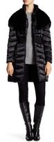 Laundry by Shelli Segal Hooded Faux Fur Trim Down Jacket