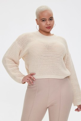 Forever 21 Plus Size Boxy Open-Knit Sweater