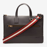 Bally Tas Brown, Men's leather business bag in Chocolate