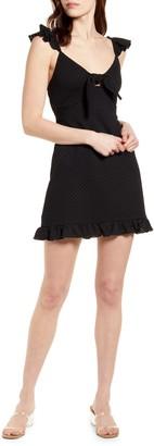 MinkPink Laurel Tie Front Minidress