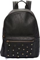 Black Floral Stud Backpack