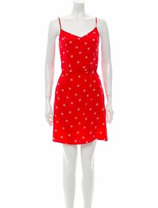 HVN Silk Mini Dress Red