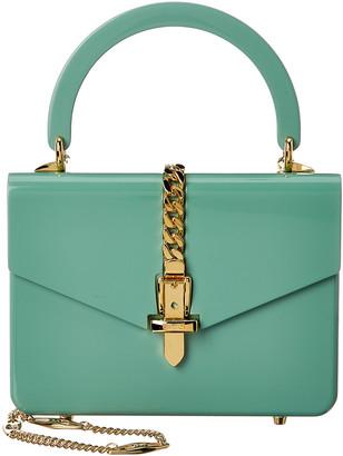 Gucci Sylvie 1969 Mini Plexiglas Top-Handle Shoulder Bag