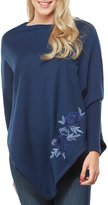 Peter Nygard Petite Embroidered Sweater Poncho