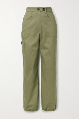 The Range Cotton-blend Twill Cargo Pants - Army green