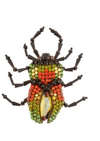 Gucci Bug crystal-embellished brooch