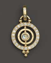 Temple St. Clair 18K Yellow Gold Mini Tolomeo Pendant with Royal Blue Moonstone and Diamonds