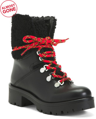 Made In Portugal Leather Shearling Boots