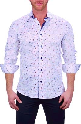 Maceoo Einstein Beach White Button-Up Shirt
