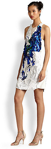 3.1 Phillip Lim Paillete-Patterned Silk Dress