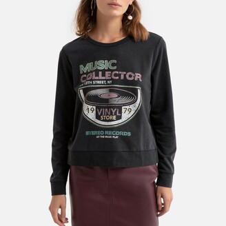 Only Crew-Neck Logo Sweatshirt in Cotton Mix