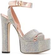 Thumbnail for your product : Marco De Vincenzo Crystal Embellished Platform Sandals