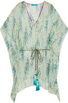 Matthew Williamson Snake-print Silk-chiffon Kaftan - Light green