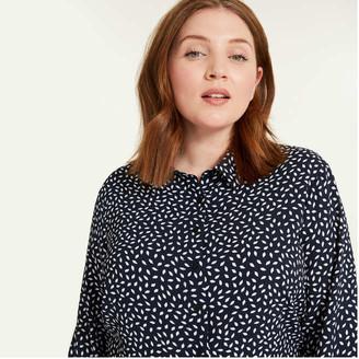 Joe Fresh Women+ Crepe Shirtdress, Navy (Size 16)