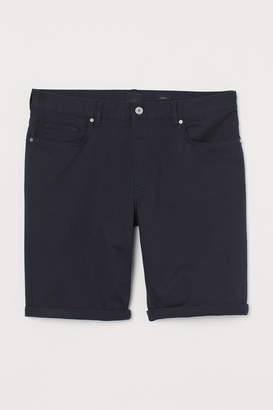 H&M Slim Fit Cotton Shorts - Blue