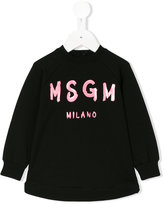MSGM logo print sweatshirt dress - kids - Cotton/Spandex/Elastane - 9 mth